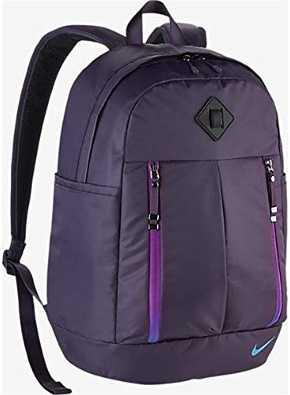 Nike Damen W NK AURALUX SOLID Backpack Rucksack Dunkle Rosine Chlorblau Binarisches blau, 49.3 x 38.2 x 8.3 cm