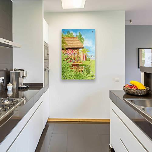 Epic Art 'Tiki Bar' by Evelyn Jenkins Drew, Acrylic Glass Wall Art, 24'x36'