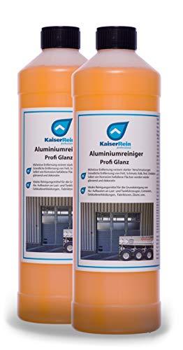 KaiserRein Alu Reiniger Aluminium Reiniger Profi Glanz 2 L Aluminiumgrundreiniger Auto KFZ Fassaden Zaun Auto Tank LKW