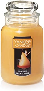 Yankee Candle Poached Pear Flambe Large Jar Candle, Fruit Scent