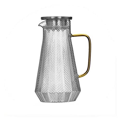 XIN NA RUI Tetera Pote de Agua de Vidrio Botella de Agua fría Manija Hervidor de Agua Transparente Tetera Resistente al Calor Tetera Jarra de Agua Jarra 300/1500 / 1800ml (Color : 1800ml)