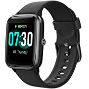 Smart Watch AIKELA Fitness Tracker Heart Rate Sleep Monitor Activity Tracker with 1.3'' Large Color Touch Screen 5ATM Waterproof with Multiple Sport Modes, Sleep Monitor, for Women Men Android iOS-Gray