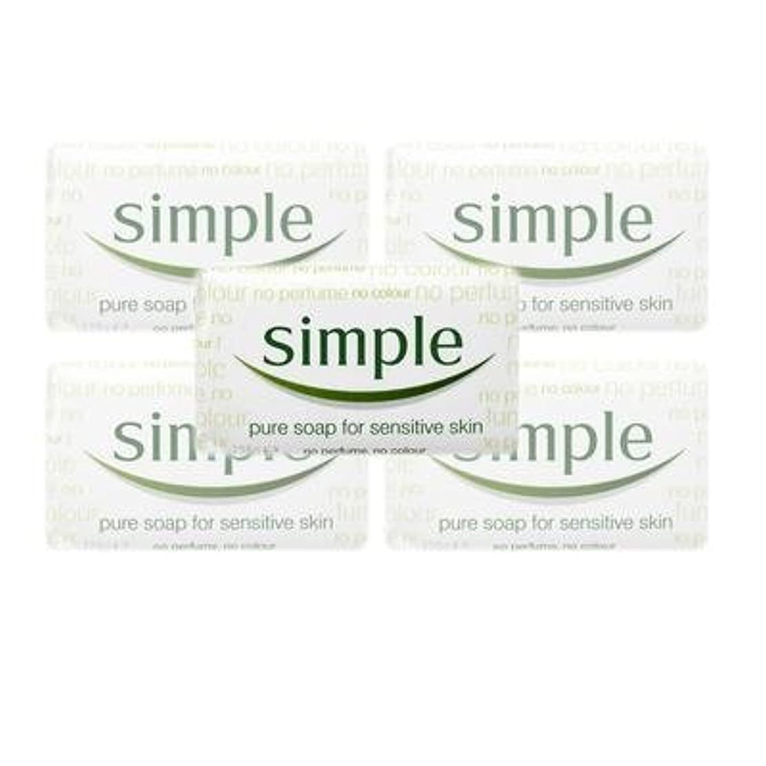 摂氏ぎこちないデマンドSimple Pure Soap ( 6 x 125 gr bar) by Simple
