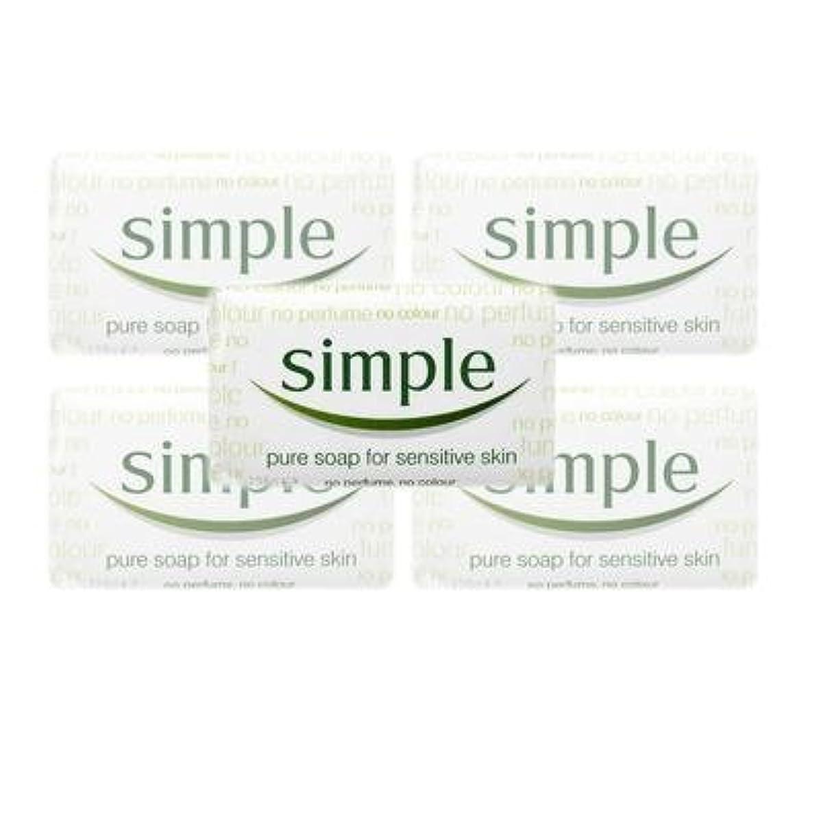 不条理噛む放送Simple Pure Soap ( 6 x 125 gr bar) by Simple