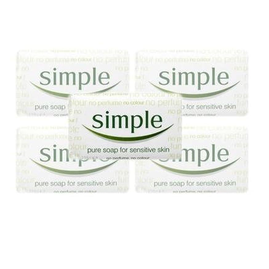 天気コンドーム著者Simple Pure Soap ( 6 x 125 gr bar) by Simple