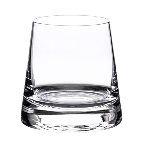 Home+ Verres à Whisky, 2 pièces/Lot Whisky en Verre Transparent Coupe du Fond épais Coupe vin for KTV Club Bar Vodka Bourbon Scotch Whisky d'alcool for Les (Capacity : 195ml)