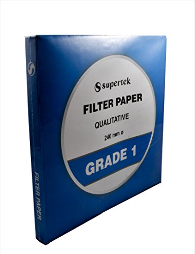 Filter Paper, Qualitative, Grade 1, 240 mm (Diameter) Pack of 100 Sheets