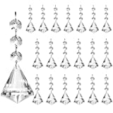 Belle Vous Abalorios Cristal Lagrima para Araña Colgante Prisma de Cristal (Pack de 20) Cristal Colgante 12 cm - Decoración Colgante para Arañas, Prismas, Piezas Atrapa Sol, Guirnalda Fiestas, Bodas