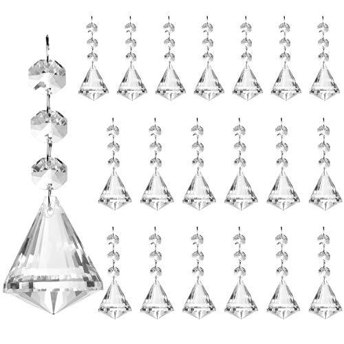 Belle Vous Kristall Perlen Kronleuchter Tropfen (20 Stück) - 11cm Kristall Glas Prisma Anhänger Perlen für Fenster Decken Tropfen Lichtbrechung, Hochzeit baum Dekoration DIY Schmuckherstellung