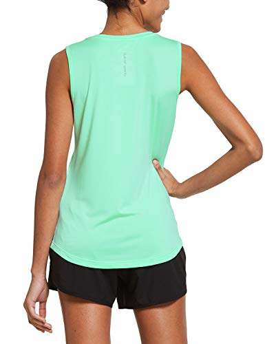 BALEAF Women's Sleeveless Workout Shirts Exercise Running Tank Tops Active Gym Tops Mint Size M