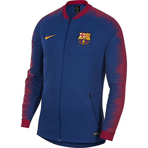 Nike Herren FC Barcelona Anthem Trainingsjacke, Deep Royal Blue/University Gold, L