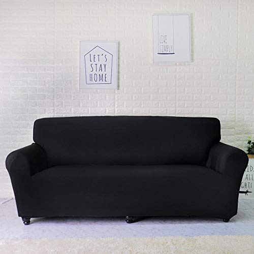 ASCV Fundas Lisas de patrón sólido Funda de sofá Fundas de sofá elásticas para Sala de Estar Funda de sofá Toalla de sofá Silla Funda de sofá A7 1 Plaza