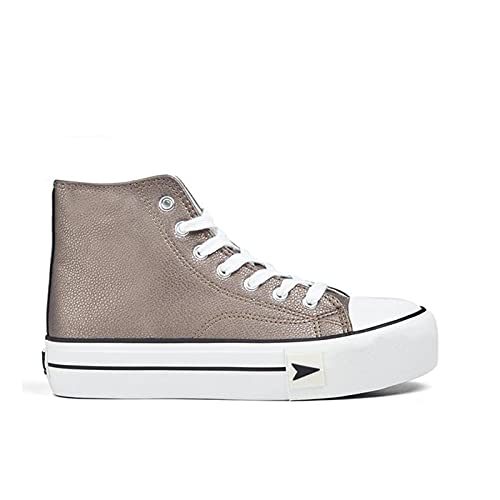 D.Franklin Sneakers Bay Plataforma, Zapatillas Mujer, Plomo, 39 EU