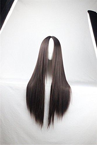 Perruque Cosplay Cheveux longs et raides résistants à la chaleur 75 cm