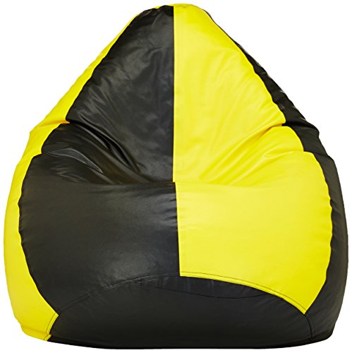 Amazon Brand - Solimo XXL Bean Bag Cover (Yellow and Black)