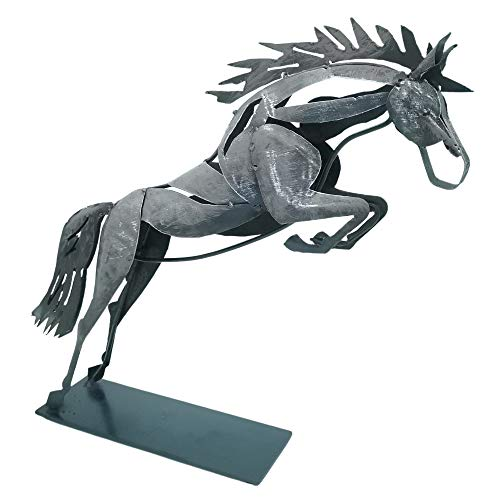 Schreiblichkeit Metall Skulptur - Pferd Arod - 31x36x8cm - Statue als Deko - Figur Geschenk für Pferde Liebhaber, Reiter oder Reiterin oder die eigene Wohnung