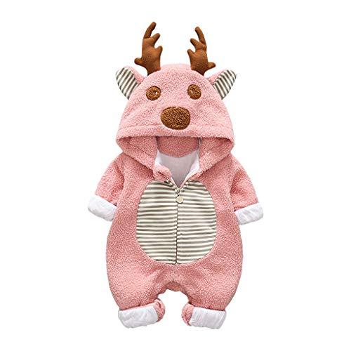 0-24 Meses bebé niño niña con Capucha Abrigo Infantil Navidad Dibujos Animados...
