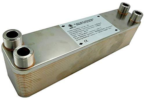 """Edelstahl Wärmetauscher Plattenwärmetauscher NORDIC TEC Ba-23-30, 125kW, 30 platten, 3/4"""""""