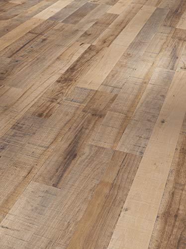 Parador Laminat Basic 400 - Kastanie Vintage Braun - Hochwertiger Laminatboden mit Klick-Verbindung - Set mit 10 Dielen im Paket = 2,49 m²