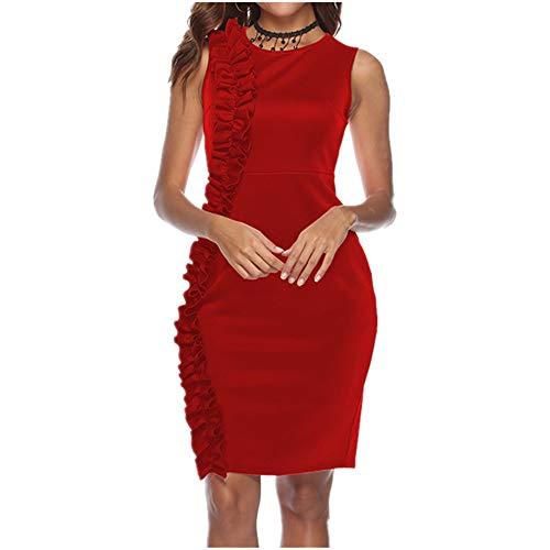 N\P Sexy vestido de verano plisado de encaje para mujer