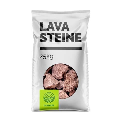 Grillsteine - Lavasteine rot/braun für den Grill 1-25 kg inkl. Versand (25)