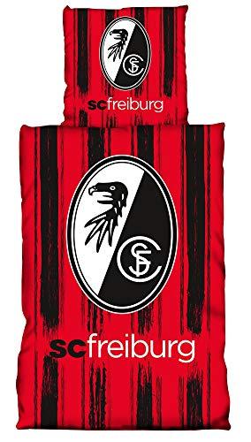SC Freiburg Bettwäsche Streifen