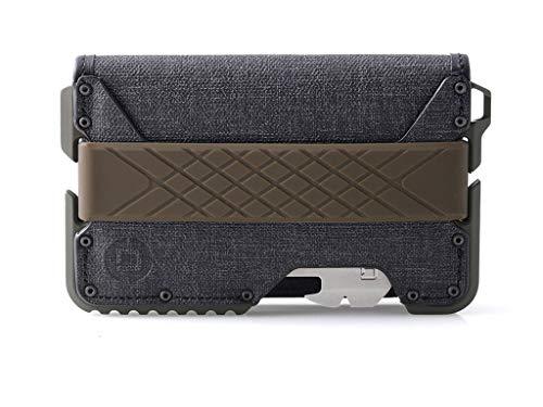 Dango T01 Tactical EDC Bifold Wallet w/ Multitool - Made in USA - Water-Resistant, Slim, Minimalist, Metal, RFID Blocking
