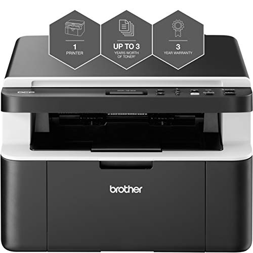 Brother DCP-1612W 'All in Box Bundle' Mono Laser Printer - All-in-One,...