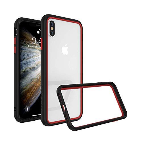 RhinoShield Coque Compatible avec [iPhone XS/X]   CrashGuard NX - Protection Fine Personnalisable avec Technologie Absorption des Chocs [sans BPA] + [Programme de Remplacement] - Combo Noir/Rouge