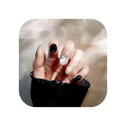24 PCS Fake Nails Qualitätsmarmormuster Falscher Nagel mit Designs Drücken Sie auf fertige Pailletten Nail Art für Frauen Diy Nails 2020-