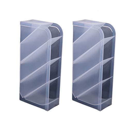 perfk 2pcs Support de Pinceau de Maquillage en Plastique Storage Case Cosmetic Maquillage Étui Brush Porte-gobelet