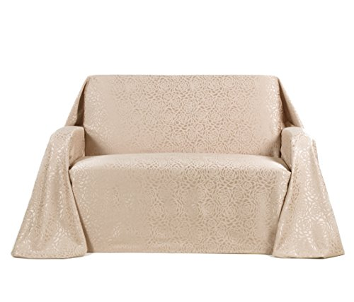 Stylemaster Home Products Rosanna Jacquard Furniture Throw, Sofa, Beach