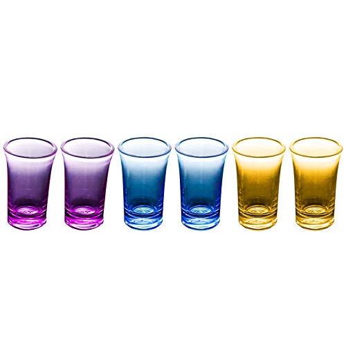(6 vasos diferentes)-+copas de vino y vasos de agua acrílicos - Hecho de plástico irrompible