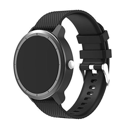 Supore Garmin Vivoactive 3 Armband, Verstellbare weiche Silikon Ersatzarmband für Garmin Vivoactive 3 / Samsung Getriebe S2 Classic/Moto 360 2 Generation 42mm