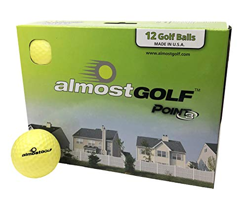 AG AlmostGolf Balls - Limited Flight Practice Golf Balls (12...