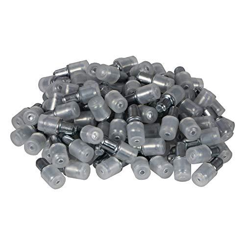 Gedotec Glasbodenträger Fachbodenträger Strong   Bohr-Ø 5 mm   Regal-Bodenträger für Glas-Tablare   Regal-Halterung zum Einstecken   Regalträger Stahl verzinkt   100 Stück - Regal-Stifte für Glasböden