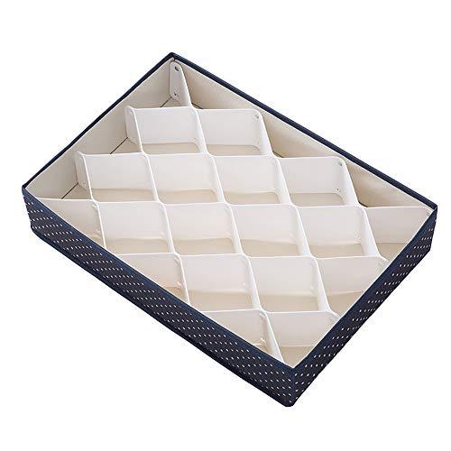 anruo Plastic ondergoed Opbergdoos Ondergoed Box Divisie Box Sokken Ondergoedopslag Grote capaciteitsopslag Best verkopende producten