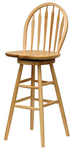 wood bar stools swivel - 5