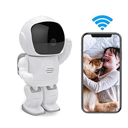 Cámara para mascotas Cámara IP LEEFISH Robot inalámbrica, cámara 1080P HD del bebé, Wifi animal doméstico del monitor, Noche de detección de movimiento interior Aplicación Visión de audio bidirecciona