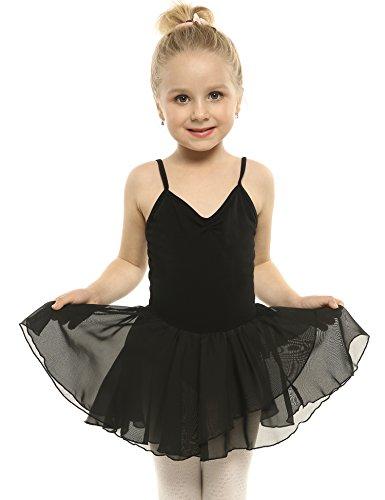 Arshiner Vestito da Ballo Tutu Balletto Danza per Bambine Manica Corta