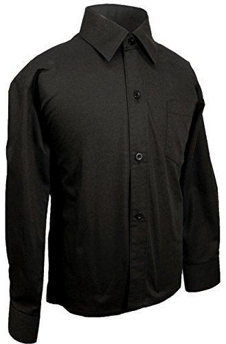 Paul Malone - Festliches Kinderhemd Jungenhemd - Jungen Hemd schwarz 164/170 (16 Jahre)