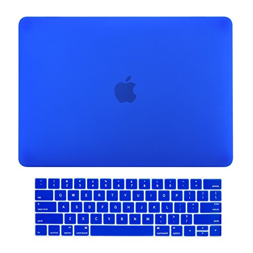 TOP CASE MacBook Pro 15 inch Case 2019 2018 2017 2016 Release A1707 A1990, 2 in 1 Signature Bundle Rubberized Hard Case + Keyboard Cover Compatible MacBook Pro 15' Touch Bar - Royal Blue