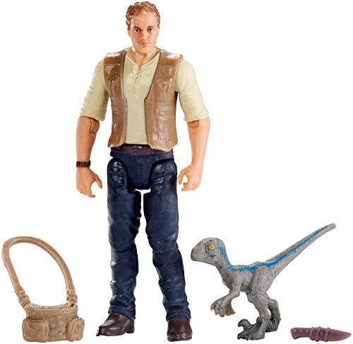 Jurassic World FMM01 Basic Figure Owen and Baby, Blue