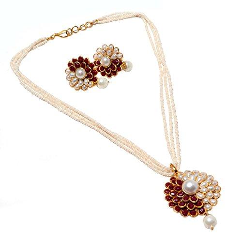 Las mujeres Zewar de colgante perla Pacchi Set templo más barato hecha...