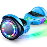 TOMOLOO Hoverboard with Bluetooth Speaker and LED Lights Self-Balancing Scooter UL2272 Certified 6.5' Wheel Electric Scooter for Kids and Adults