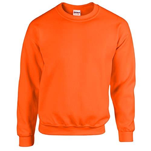 Gildan - Heavy Blend Sweatshirt - S, M, L, XL, XXL, 3XL, 4XL, 5XL /Safety Orange, M