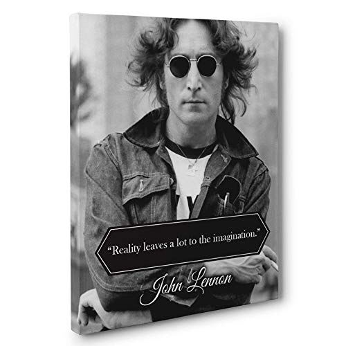 Reality John Lennon Quote Canvas Wall Art