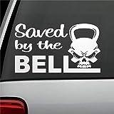 DONL9BAUER B Kettlebell Skull Art - Pegatina de vinilo para coche, para parachoques, camiones, furgonetas, motocicletas, ventanas, portátiles, computadoras, tazas, botellas, etc.