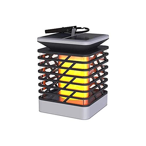 Simple Ip55 Linterna A Prueba De Agua Luz Solar Césped De Malla Columna Colgante Para Exteriores Lámpara Led Para Exteriores Luz De Jardín Cuadrada Super Brillante Energía Solar A Prueba De Lluvia Ve