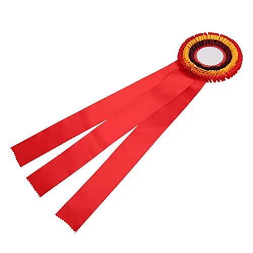 DAUERHAFT Exquisita Medalla de Cinta de Insignia, para Competencia de Carrera, para Competencia de fútbol(Red)